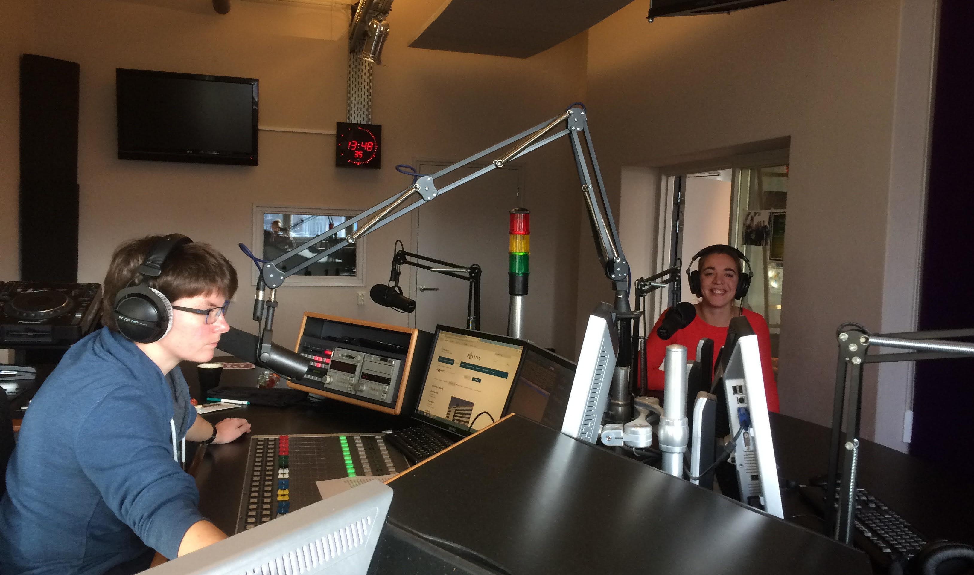 Johanna op de radio