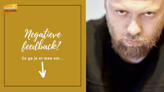 Negatieve feedback, zo ga je er mee om...