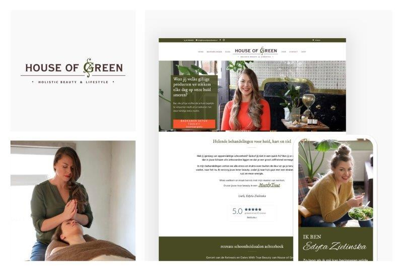 House of Green - Website Mockup