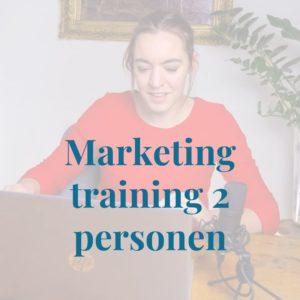 Marketingtraining 2 personen