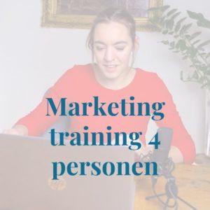 Marketingtraining 4 personen