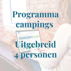 Programma campingeigenaren uitgebreid 4 personen