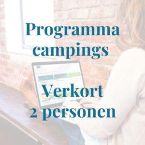 Programma campingeigenaren verkort 2 personen